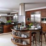 Кухня с круглым островом