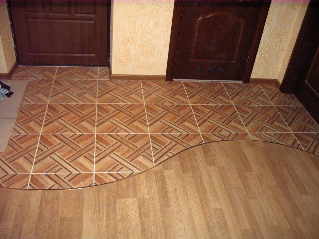 домашняя картинки ламината с плиткой в коридоре фото орнамент