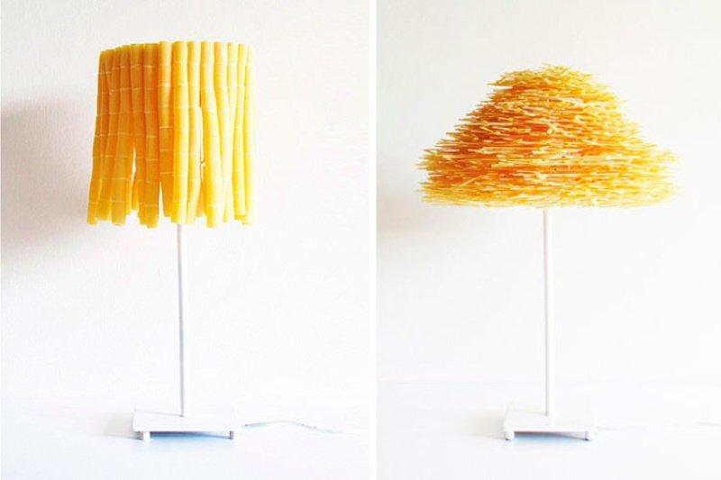 Абажур для лампы из макарон