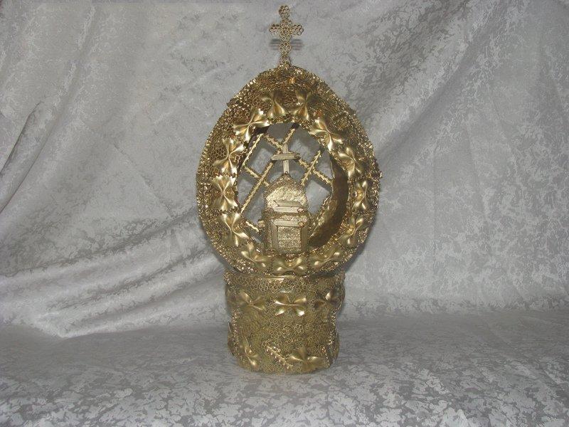 Пасхальный декор из макарон