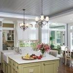 Оформление кухонного потолка