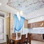 Натяжной потолок с принтом