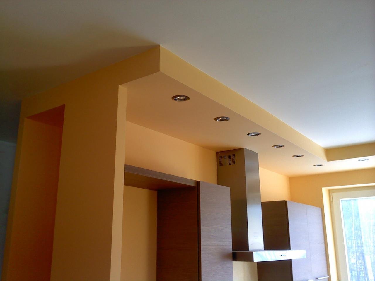 Выбираем потолок на кухне из гипсокартона