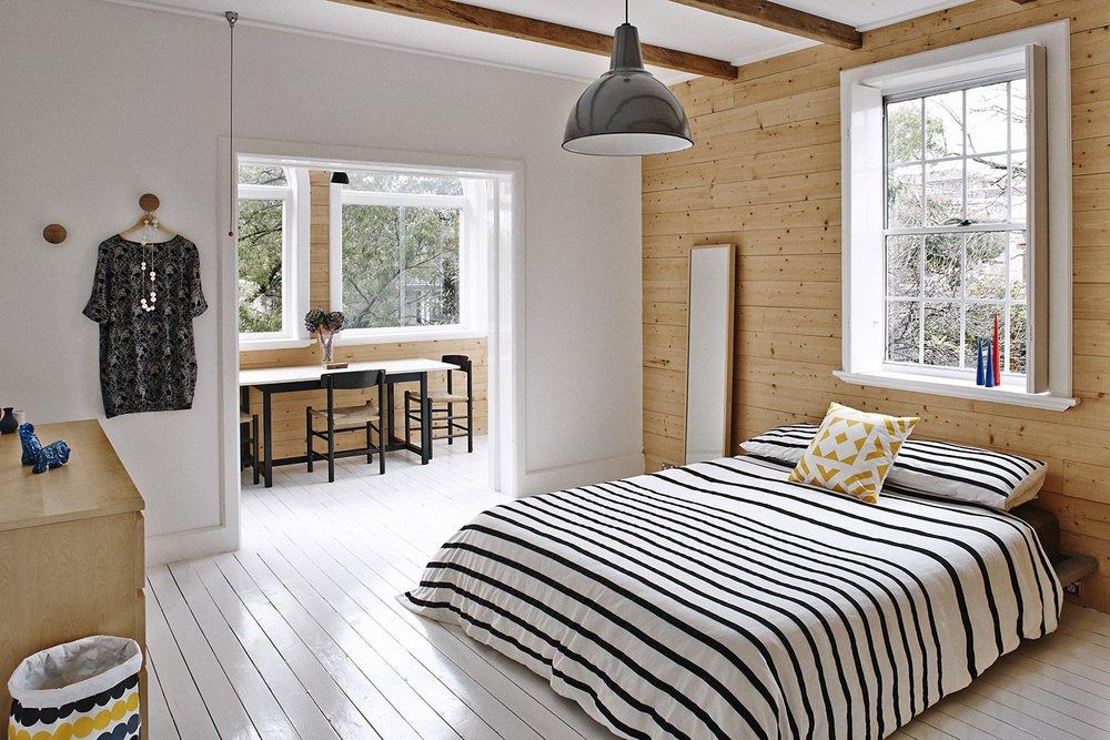 Пол из дерева в интерьере в скандинавском стиле
