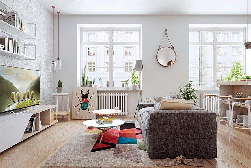 Мебель в интерьере в скандинавском стиле