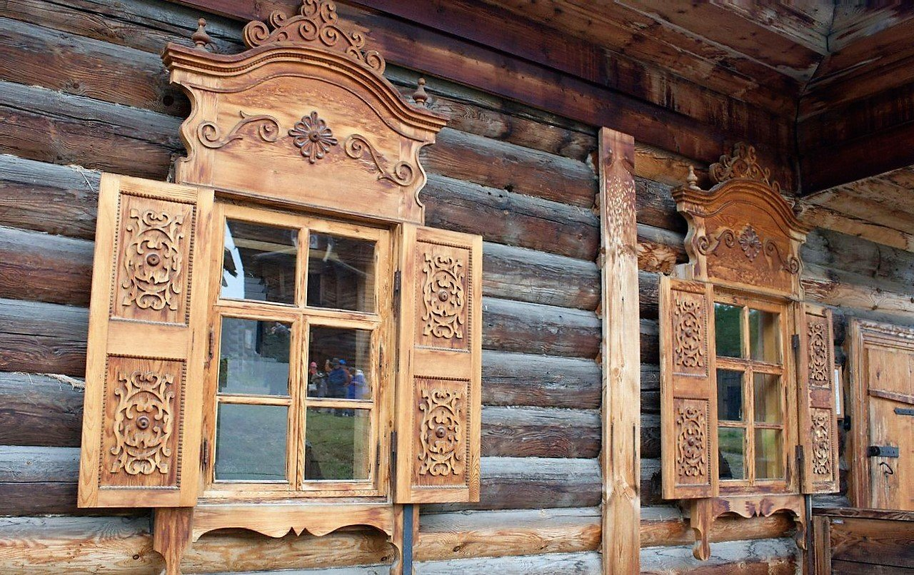 ставни на окна деревянного дома фото любителей