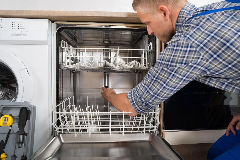 Монтаж корпуса посудомоечной машины