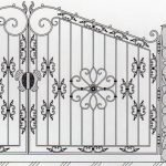 Варианты ворот с элементами ковки