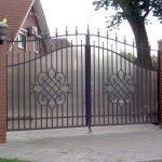 Кованные ворота из поликарбоната