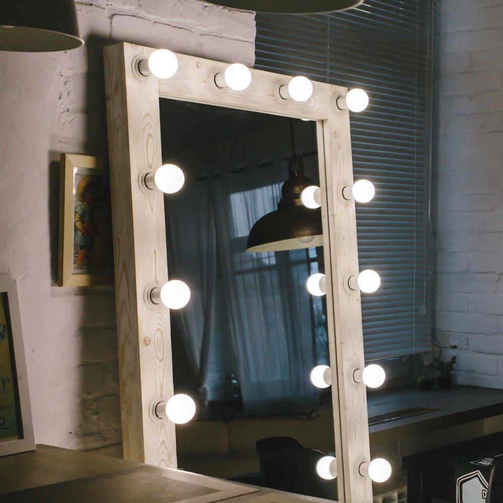 Зеркало с лампочками картинки