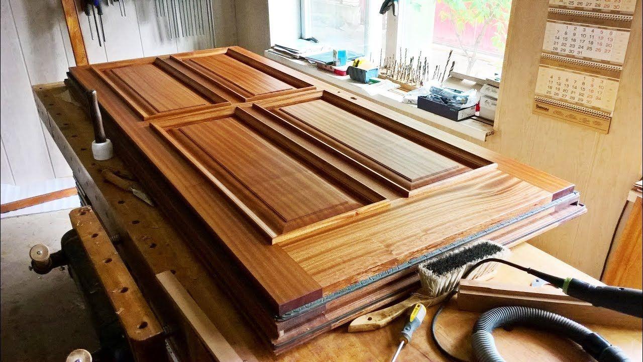 Изготовление массивной двери из дерева