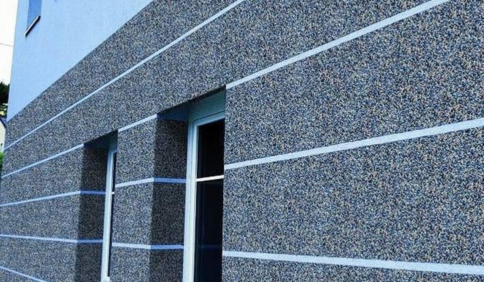 Мозаичная штукатурка на фасаде