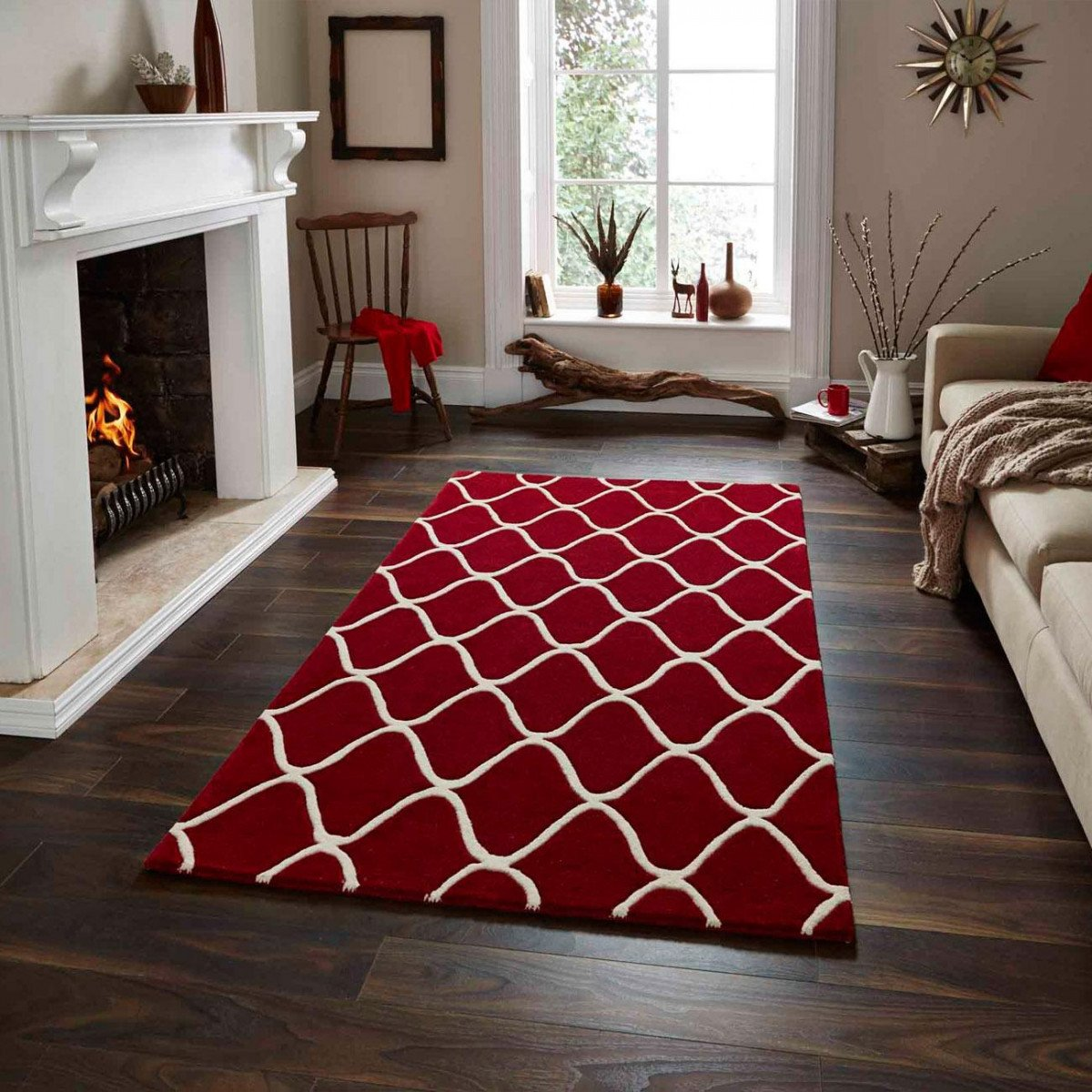 Интерьер с ковром