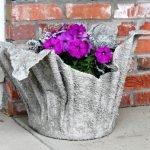 Горшки для цветов из бетона