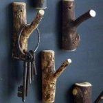 Ключница из веток дерева