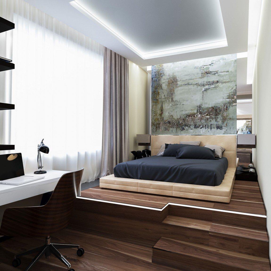 дизайн комнаты для мужчины фото конструкция встраивается стену