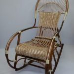 Кресло плетенное из ротанга