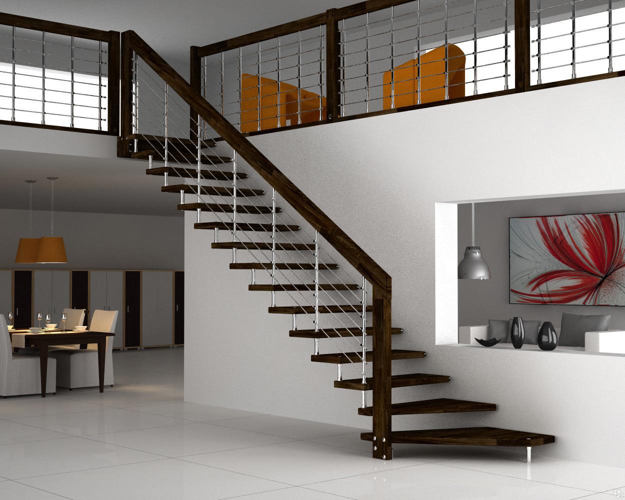 Модульная металлическая лестница