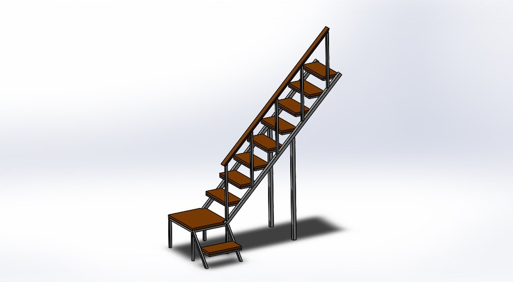 Лестница 3d модель