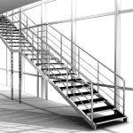 Маршевая лестница из металла