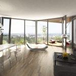 Комната с панорамными окнами