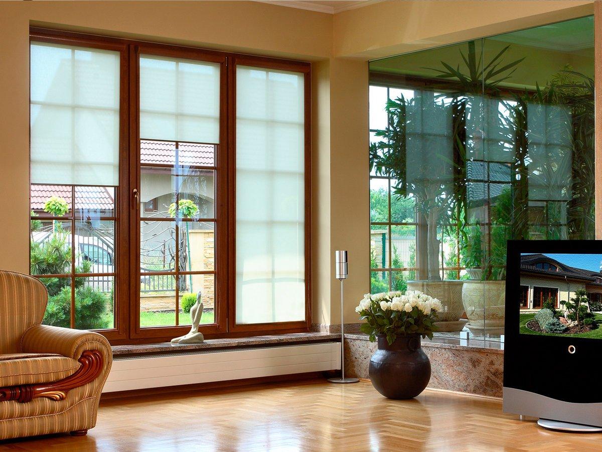 Длинные окна в частном доме фото