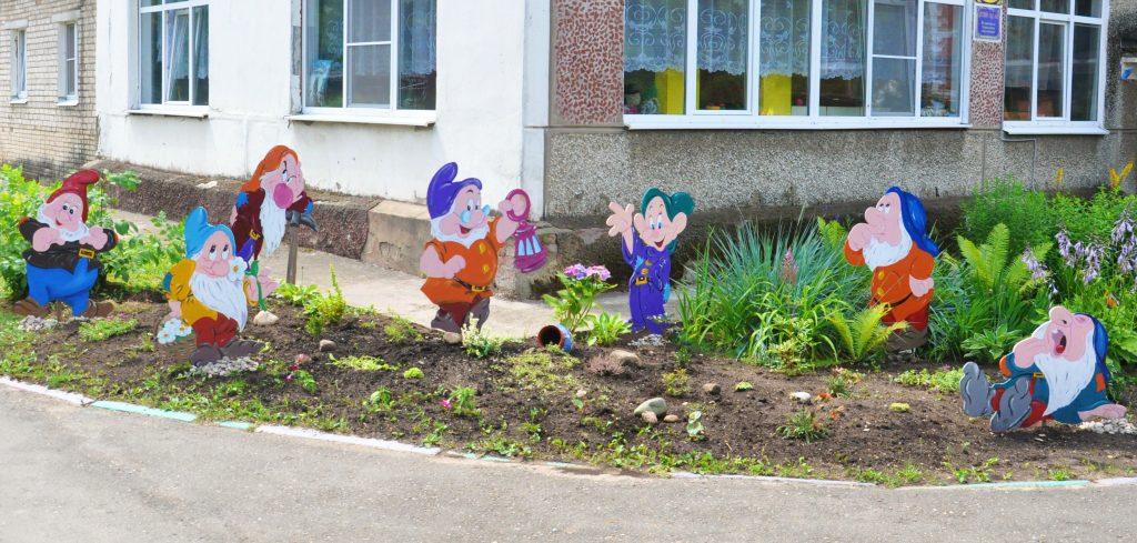 Оформление участка в детском саду своими руками