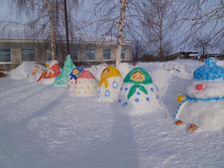 Оформление участка зимой