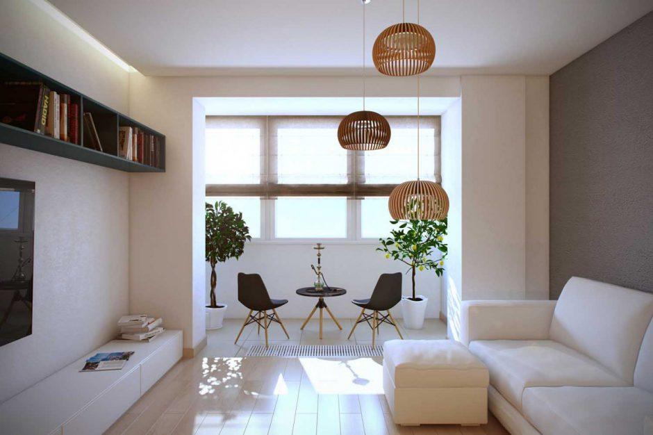 Соединение комнаты и балкон