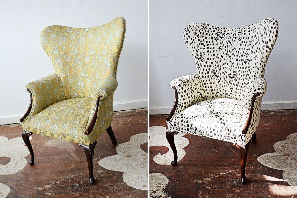 Реставрация кресла с пружинным механизмом