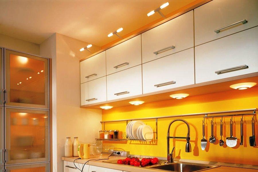 Наружная подсветка кухонных шкафов