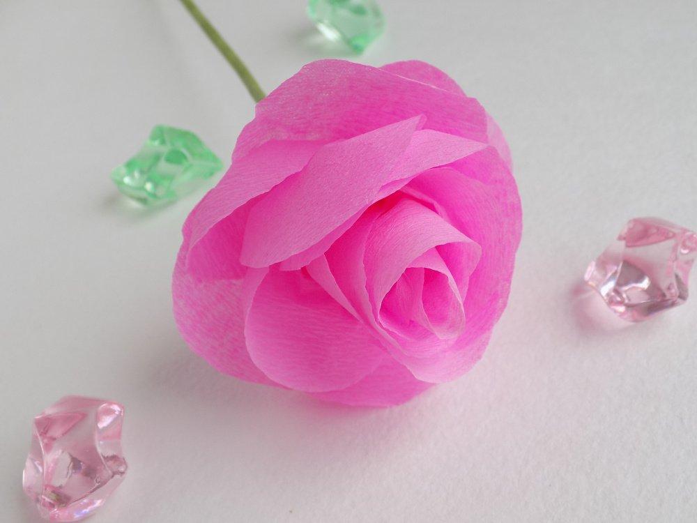 Мастер-класс роза из гофробумаги
