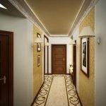 Оформление пола в коридоре