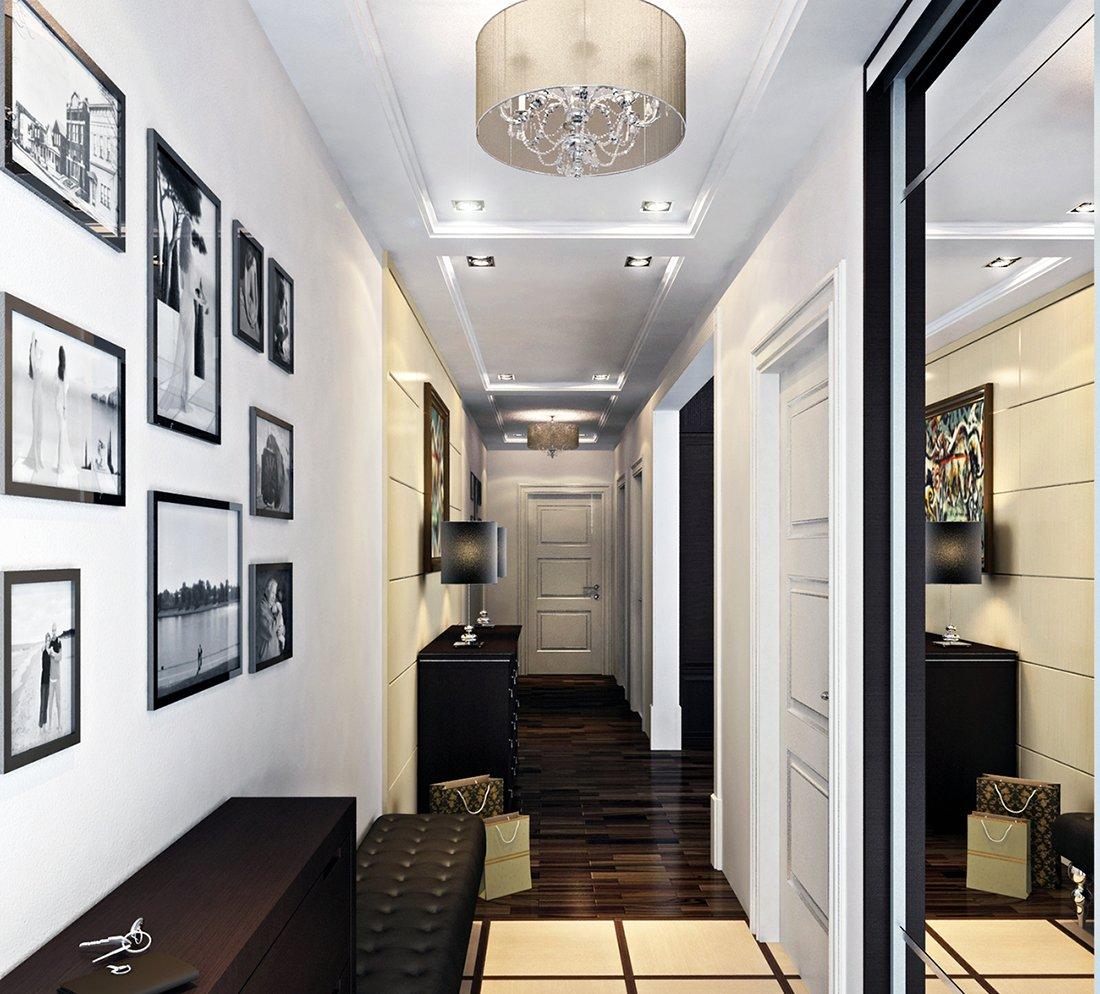 внимание ремонт узкого коридора в квартире фото данной