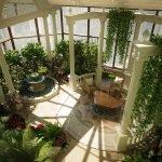 Растения на колоннах