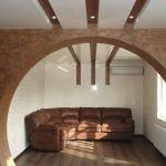 Отделка арочной конструкции