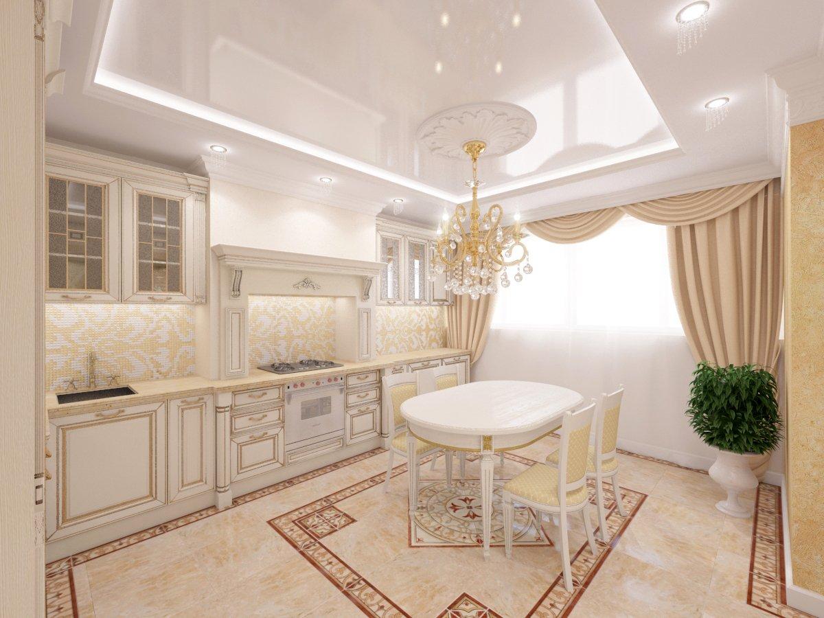 кухня студия формы г классика дизайн фото поставить большой диван
