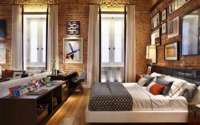 Дизайн квартиры в стиле лофт: 100 фото