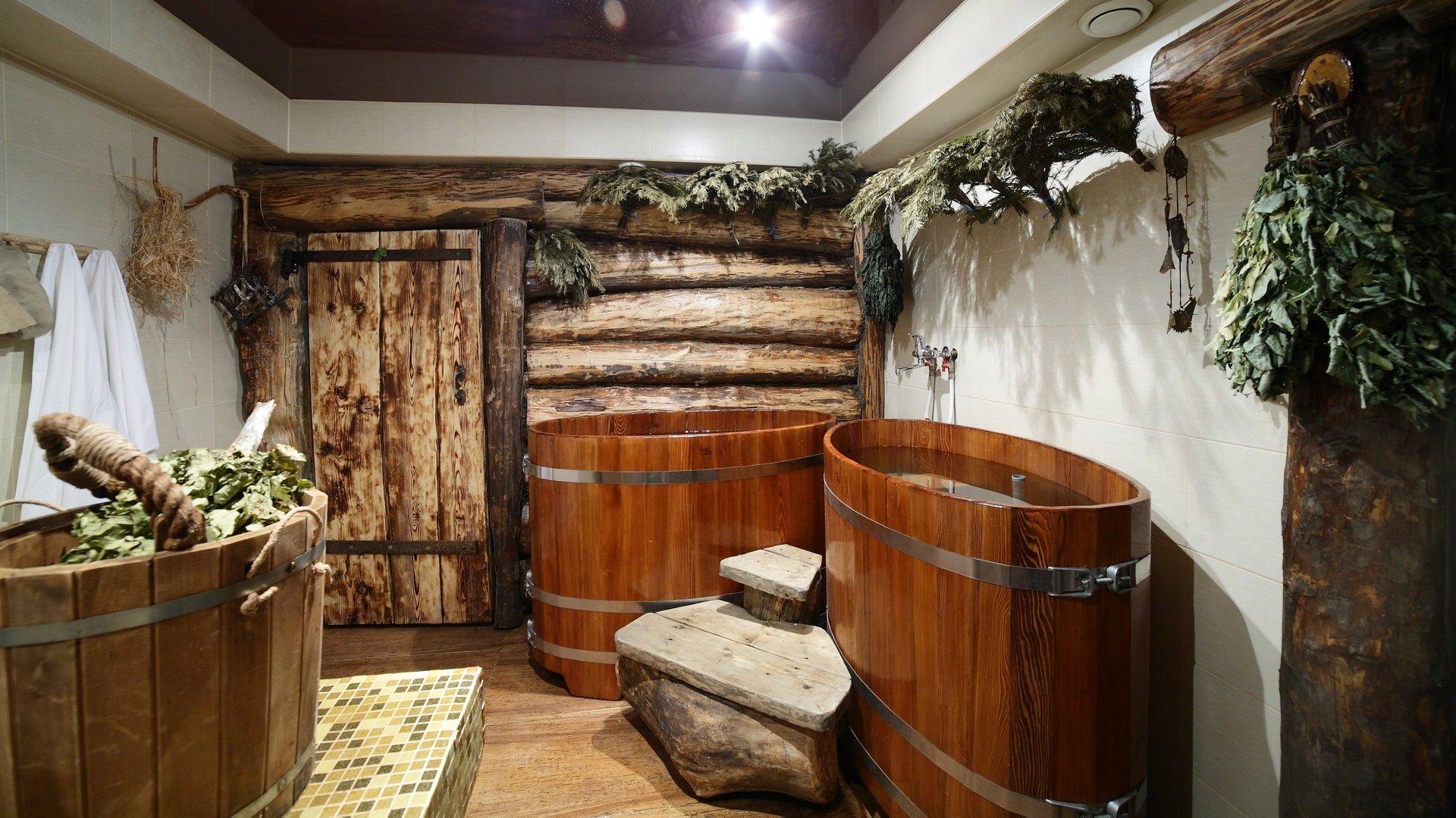 Оснащение помещений бани