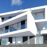 Фасад дома в стиле хай-тек
