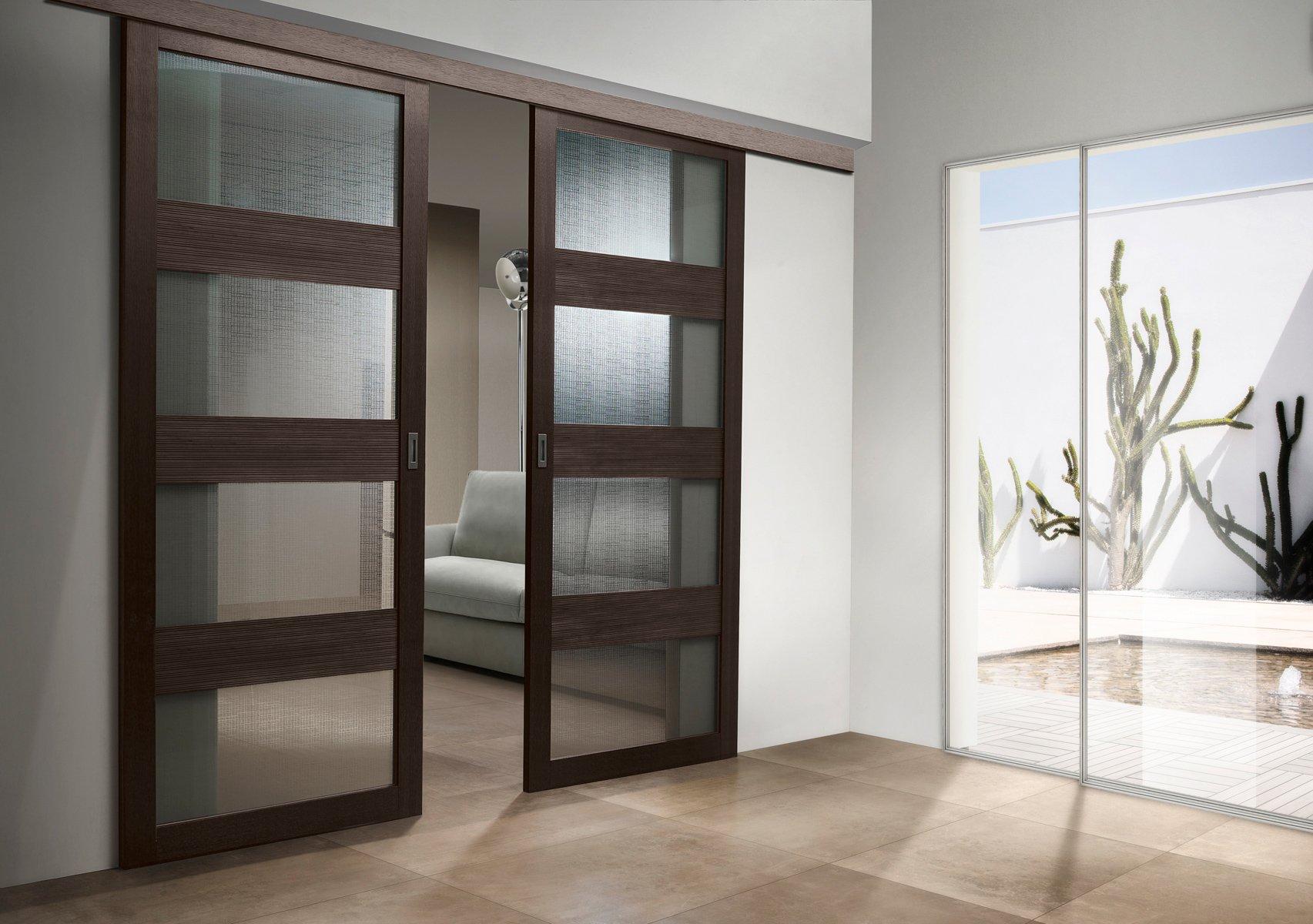 Раздвижные двери в стиле модерн