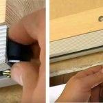 Устанавливаем стопоры на сдвижных дверях