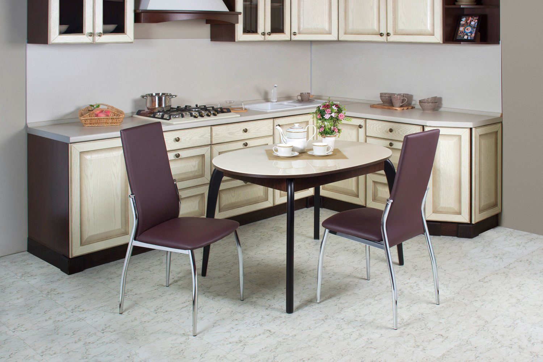 Обеденные столы для кухни в картинках случается так