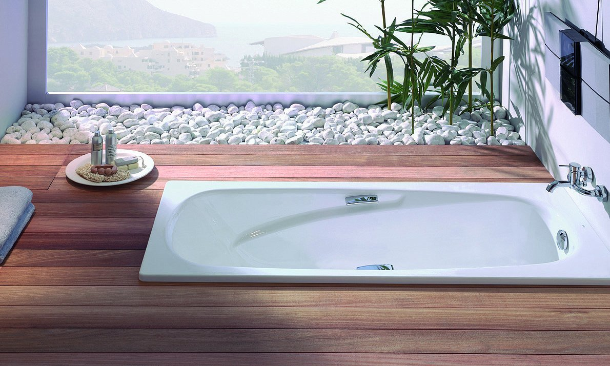 Прямоугольная ванна из стали
