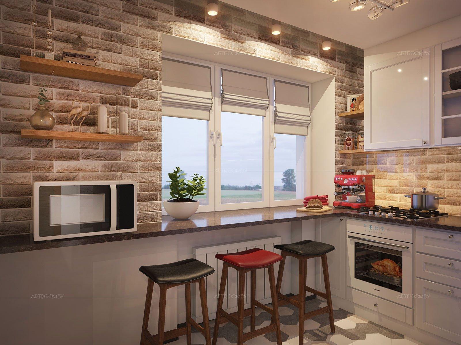 фото кухни рабочая поверхность у окна бобра самый густой