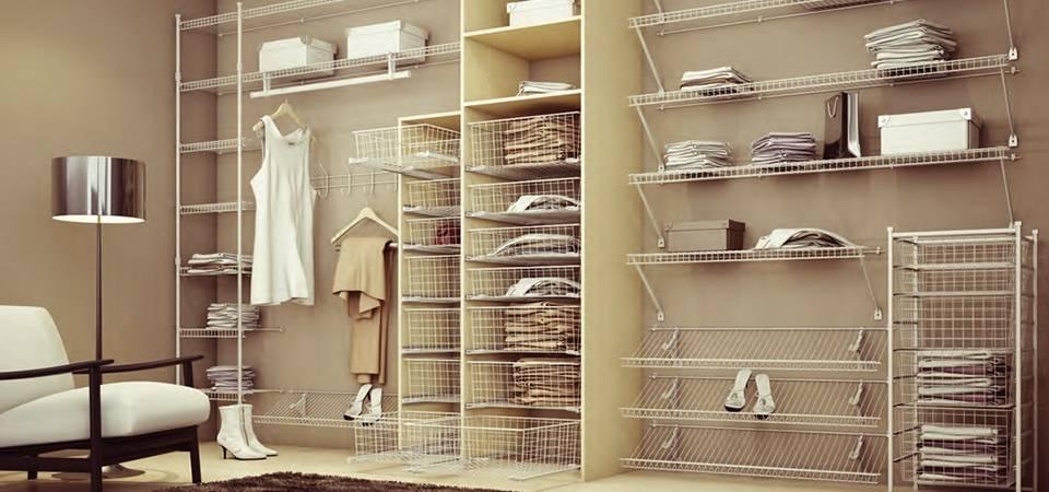 Сетчатые системы хранения в гардеробной