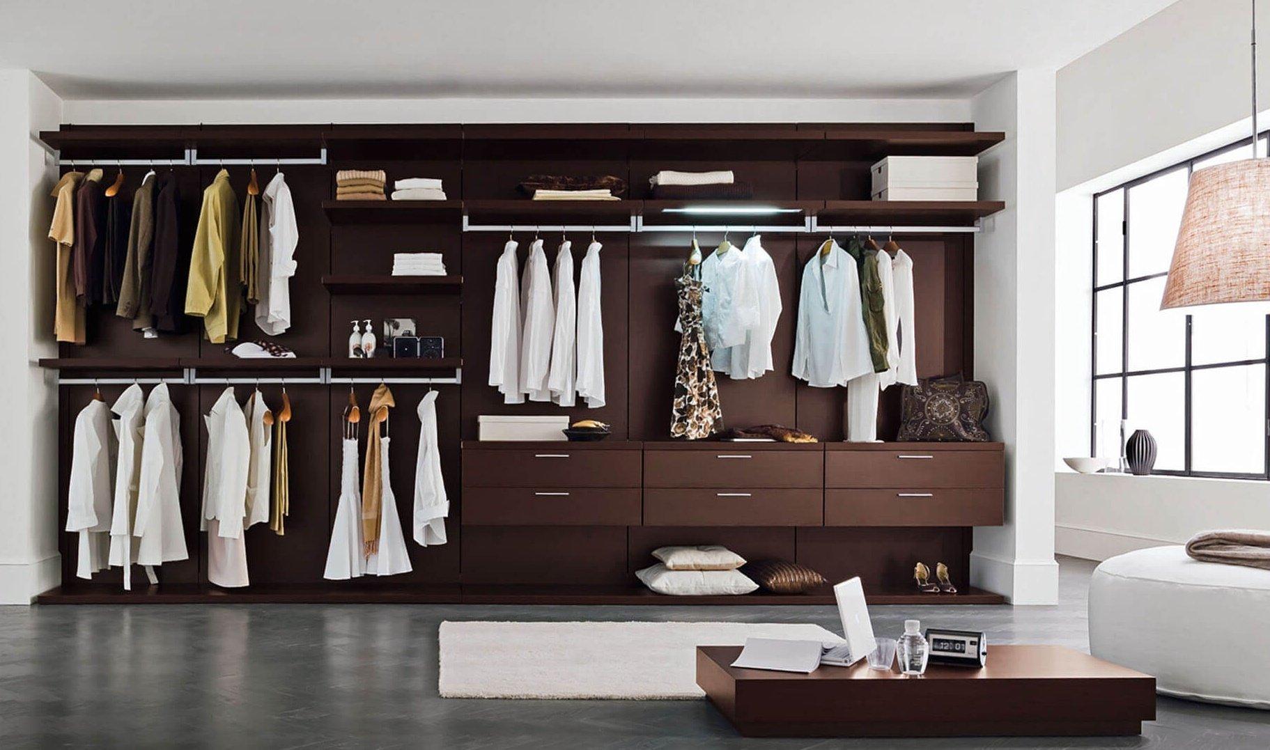 Панельные системы хранения в гардеробной