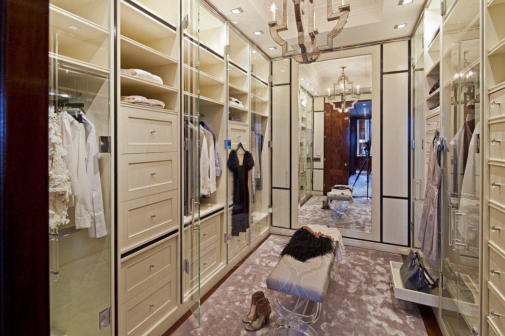 Стекло и зеркала в гардеробной