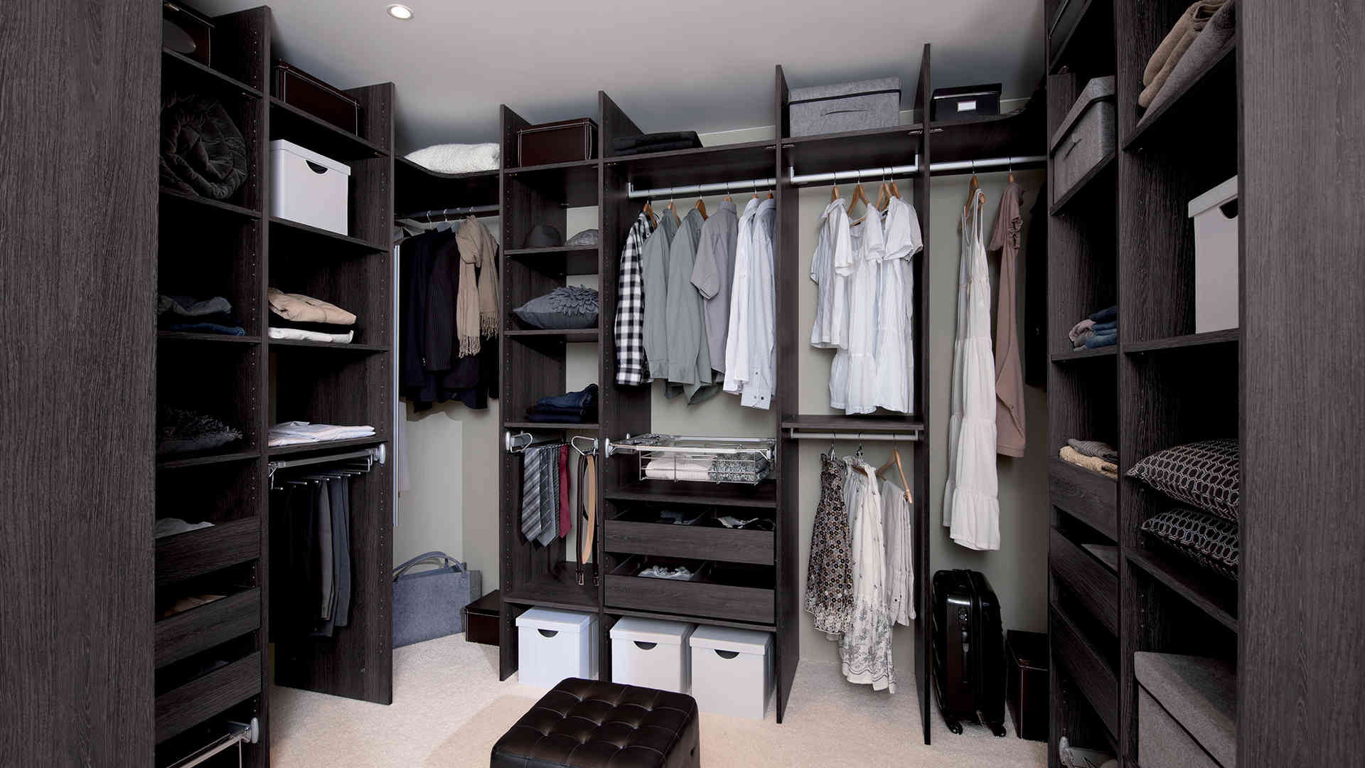 Комплектация гардеробной системы