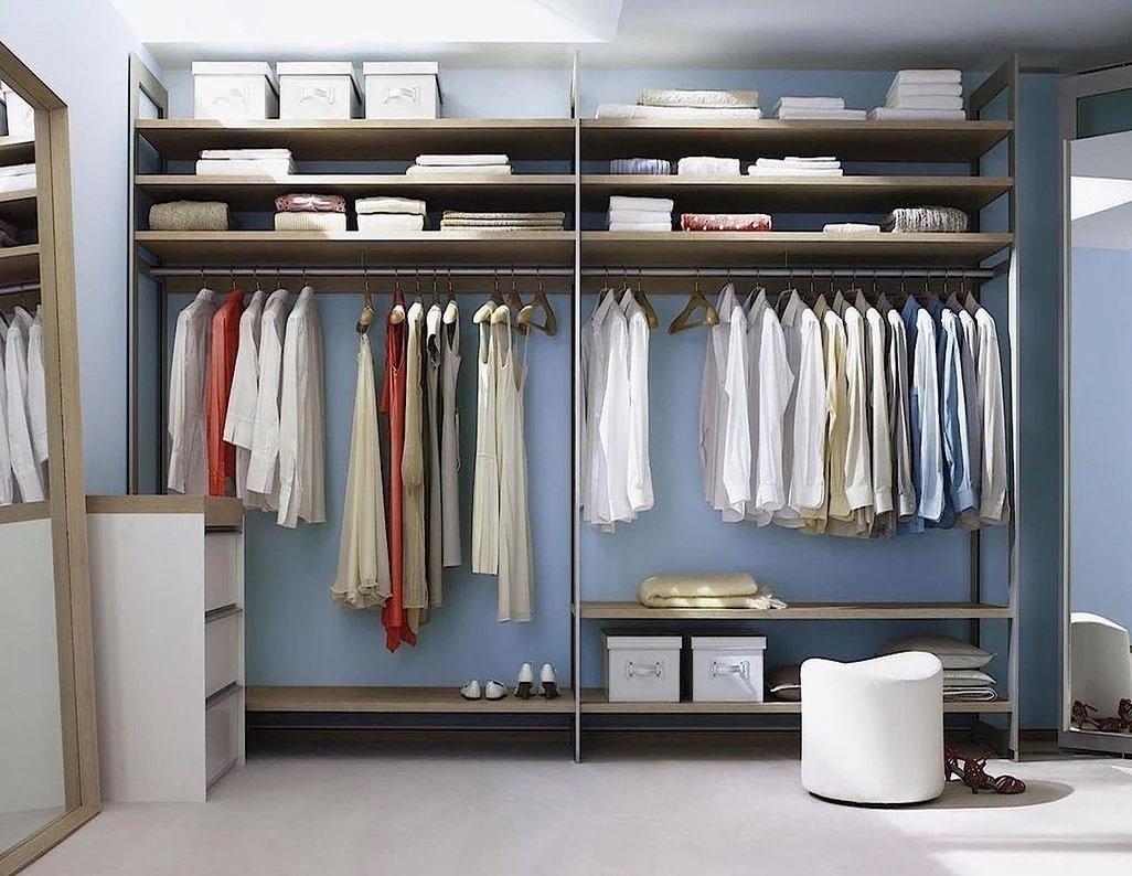 Штанги в гардеробной